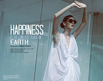 "HUF Magazine, London.""Happiness is the loneliest..."""