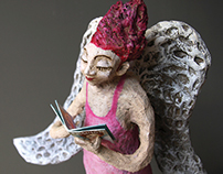 Paper Mache Sculpture Angel 3.0
