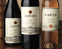 Lawer Estates Wine Label, Web Design & Collateral