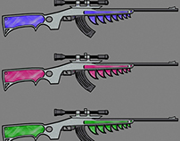 Cel Shaded Rifle