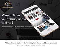 Afghansmart - Music App Design