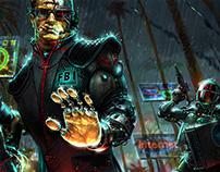 arrest in Los Angeles (cyberpunk)