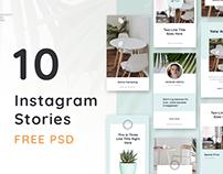 10 Instagram Stories / Free PSD
