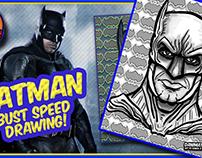 Batman Caricature Bust Speed Drawing!