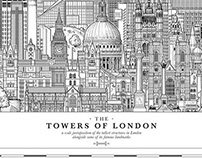 The Towers of London print