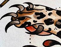 Paw Claw Tattoo Art