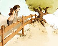 Ilustração infantil - Vicente e a Semente