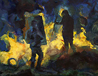 Painting, EuroMaidan 2013-14, Kyiv, Ukraine