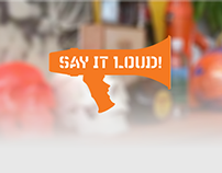 Say it Loud - proposed website redesign