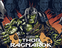 Thor: Ragnarok Screen-Printed Poster