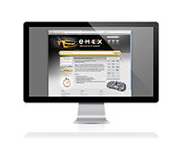 2012 Дизайн интерфейса для сайта компании «emex»