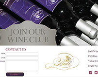 Bali Wines - Website Design