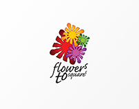 The FLOWERS TO SQUARES logo & more
