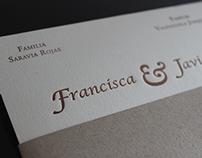 Parte Matrimonio Francisca y Javier