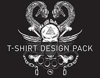 Skull and Snake T-Shirt Design Pack