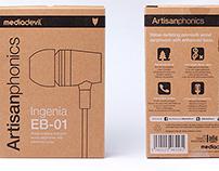 Artisanphonics packaging for MediaDevil
