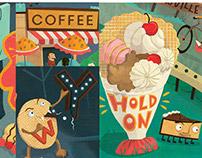 Caffe Demetre menu - Lettering