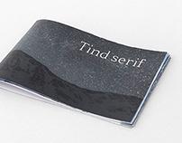 Typeface design | Tind serif