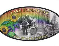 Lake Tomahawk, WI Centennial Logo