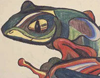 Frog Metamorphing into the Cubist Style