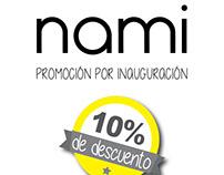 Publicidad para tienda de ropa NAMI