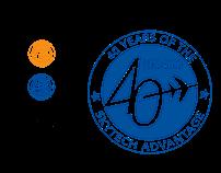 Skytech 40th Anniversary Logo