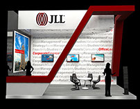 Jones Lang (real estate) booth design