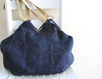 Granny Square Tote : Crochet