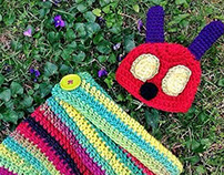 The Hungary Caterpillar inspired newborn photo prop