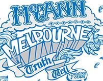 Typography Treatments for McCann Erickson