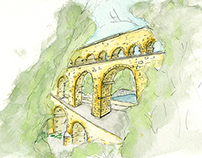 A peek at Pont Du Gard
