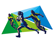 QBE Stadium tunnel mural graphics
