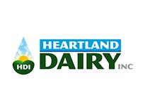 Papeleria y Logotipo: Heartland Dairy