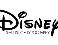 Simplistic Disney Typography