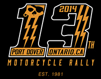 2014 - Friday The 13th Motorcycle Rally - '13' Design
