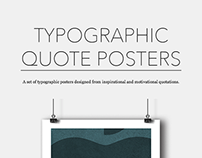 Typographic Quote Posters