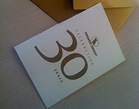 Travco Group 30 years invitation