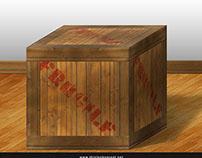 Freebie PSD: Realistic Crate