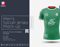 Men's Soccer Jersey Mockup V2