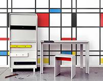 Inspiration by artist : Piet Mondrian