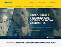 Home and new navigation for Ipiranga portal
