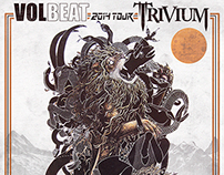 USA Tour Poster for Trivium & Volbeat