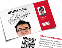 Boston University Helmet Hair Campaign