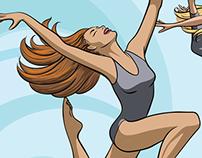 Illustration - Modern Dancers