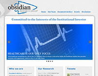 Obsidian Research Group logo and web design