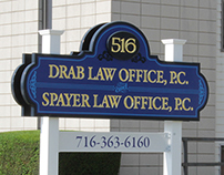 Drab Law Office Sign