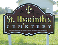 St. Hyacinth Cemetery Sign