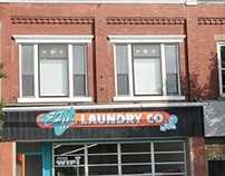 East Main Laundry Sign re-design