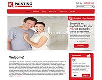 Painting Company Web Design Template