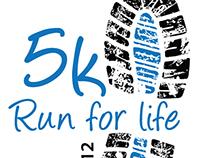 Run for Life 5k logo